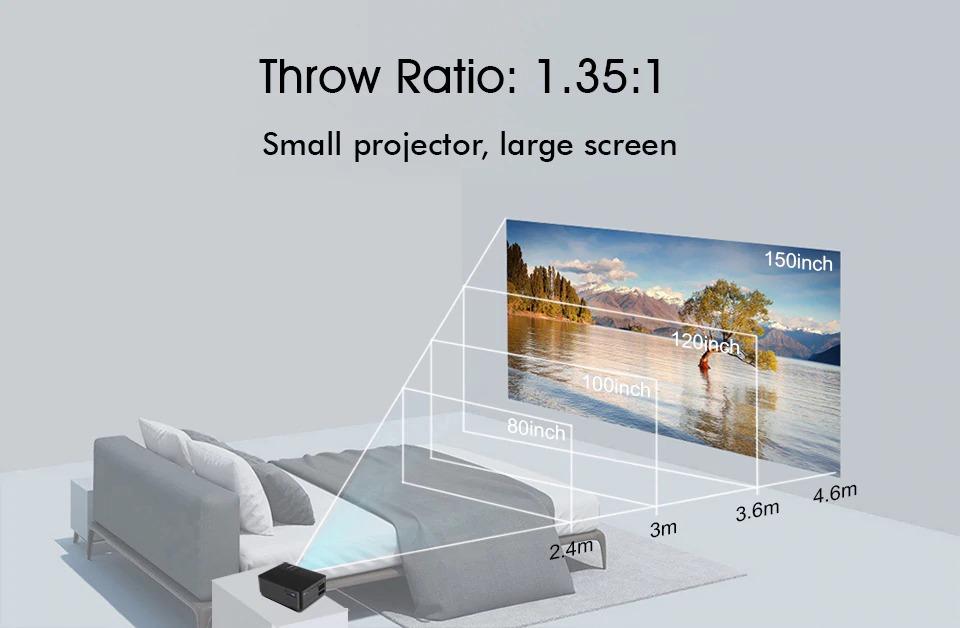 Byintek Sky K7 Android Smart WiFi LED Mini Portable Video 720p HD Projector