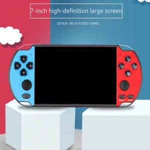 Coolbaby X12 Plus Retro Handheld Game Console - 7 inch RS-10 Game Red Blue