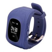 Q50 Kids Smart Watch GPS LBS Double Location Safe Children Watch Activity Tracker SOS Card - Dark Blue