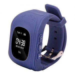 Q50 Kids Smart Watch GPS LBS Double Location Safe Children Watch Activity Tracker SOS Card - Dark Blue