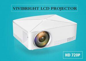 VIVIBRIGHT C80 LCD Home Theater 720p Projector - White