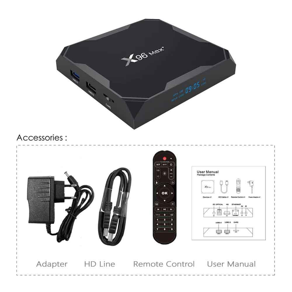 X96 Max Plus Android Smart TV Box 4GB 64GB