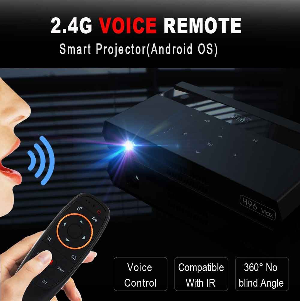 H96 Max Smart DLP Projector - Portable Android Projector - Black